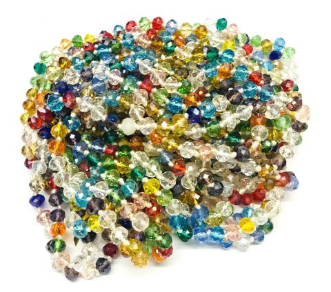 Cristal Checo Mix Rondelle 7x6mm Extra Largo (Tira)