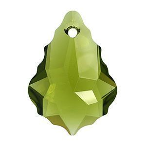Baroque Swarovski Light Green 16x11mm (Un)