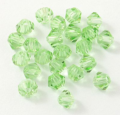 Bicono Punta Cristal Light Green 4mm (10 Unidades)