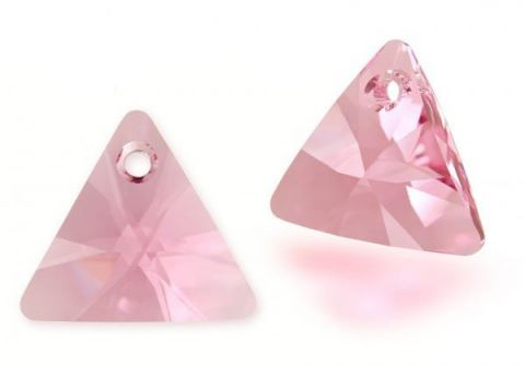Triángulo Xilion Swarovski Light Rose 12mm (Un)