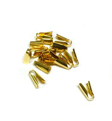 Terminal Gold Filled Tubo Adaptable (Par)