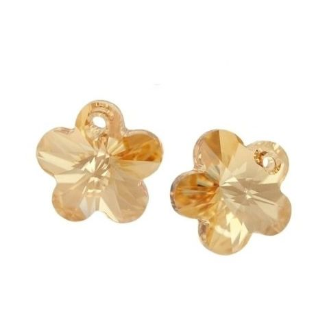 Flor Swarovski Gold Shadow 12mm (Un)