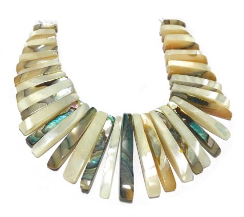 Set Maxi Collar Abalone Crema (Set)