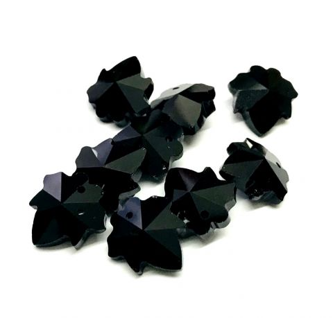 Hoja Black Celestial Crystal 16mm (6 Unidades)