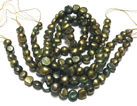 Perla Natural Nugget Bronce Antiguo 7-8mm (Tira)