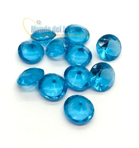 6x4mm Agua Marina Glass Oval (Un)