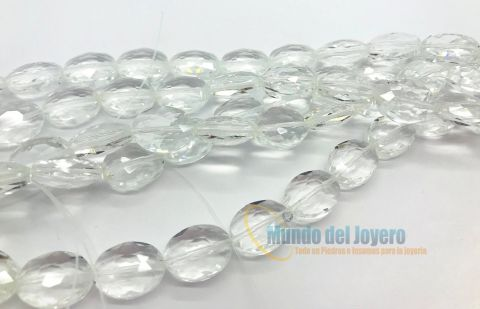 Cristal Checo Cristal Oval Facetado 16x13x7mm (Tira)