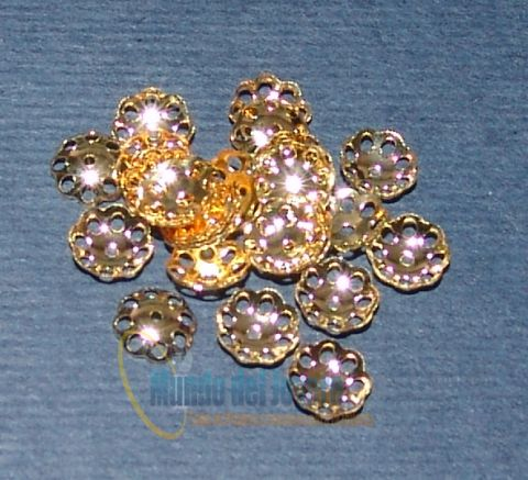 Casquete Gold Filled 4-6mm (Par)