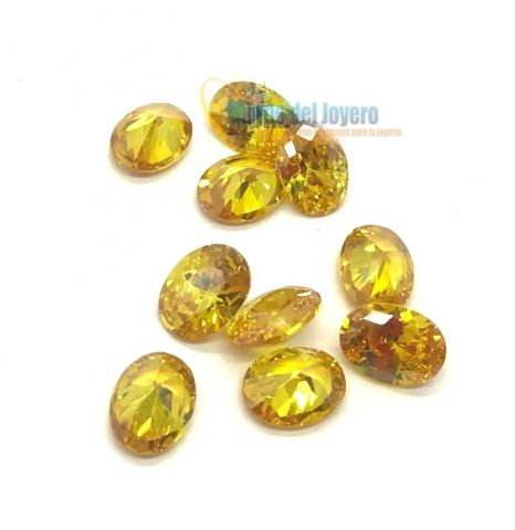 5x3mm Circón Topacio Gold Oval (Un)